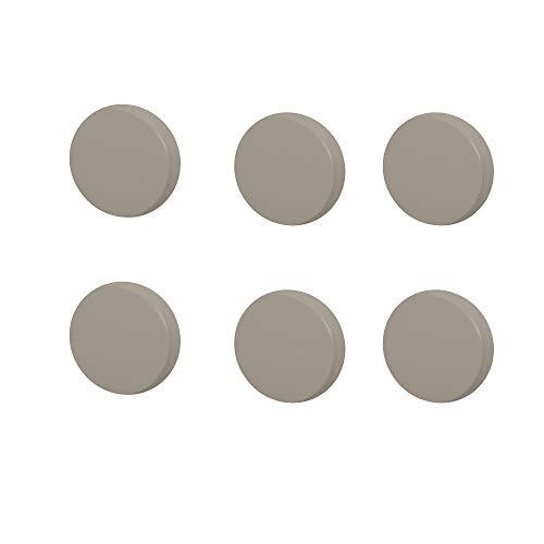 6 Un. TIRADOR Pomo Mueble BEBÉ círculo madera lacada gris - Diámetro 80MM