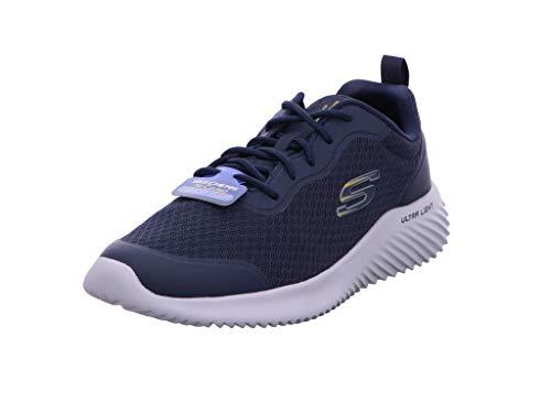 Skechers Bounder, Sneaker Uomo, Blu (Navy Mesh/Synthetic/Trim Nvy), 41 EU