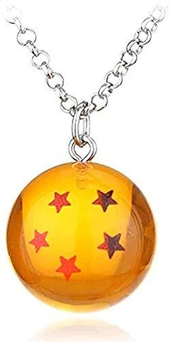Yiffshunl Collar Anime Goku Dragon Ball Super Collar Encanto Colgante 3D Estrella Cosplay Bola de Cristal Llavero niñas niños Collar