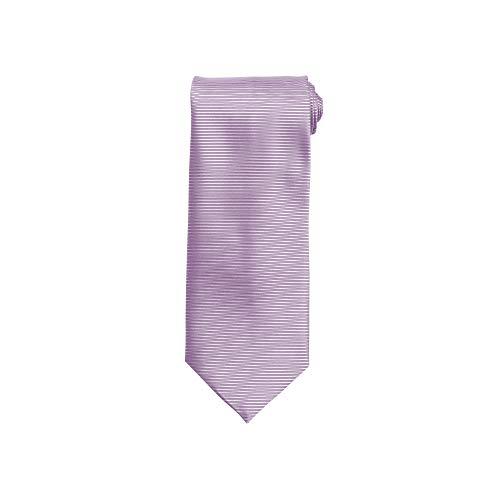 Premier Tie - Corbata de Lineas Horizontales Entrelazadas Hombre Caballero - Trabajo (Talla Única) (Lila)
