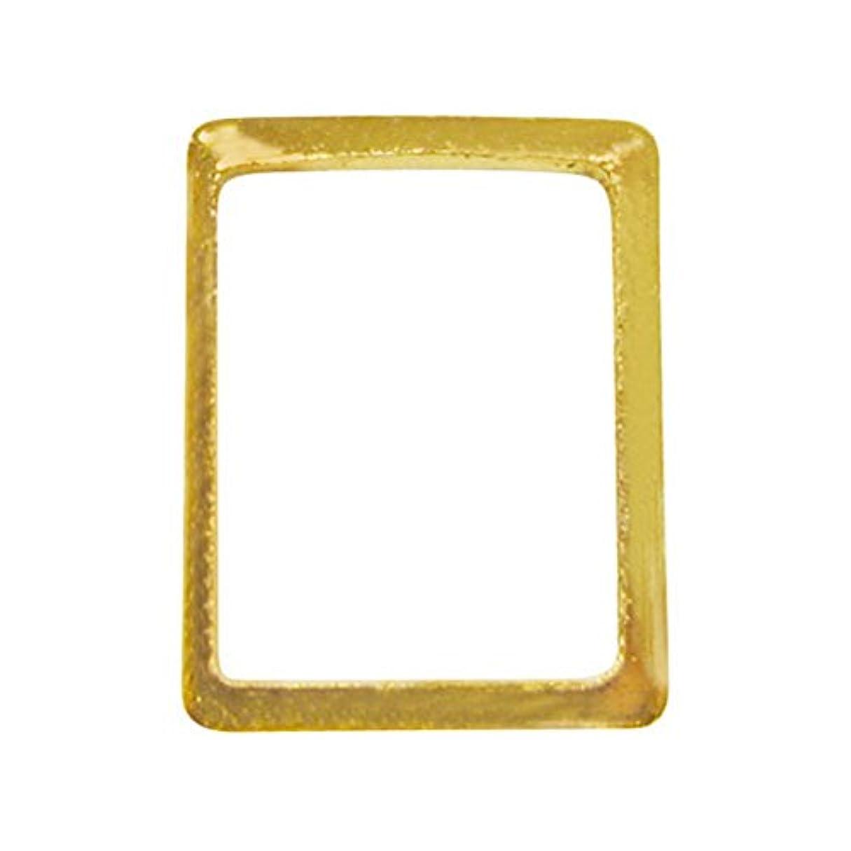 挑む決定機械的にサンシャインベビー ジェルネイル シンプル スクエアフレームM(長方形ゴールド) 10P
