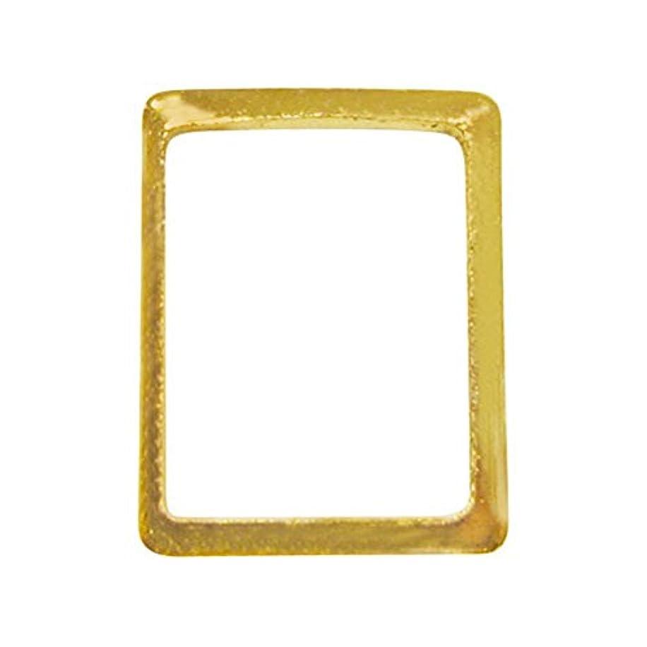 鎮静剤合わせて日曜日サンシャインベビー ジェルネイル シンプル スクエアフレームM(長方形ゴールド) 10P