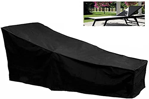 Tik LP Black Outdoor Sun Tounger Funda Impermeable Jardín Cubierta de Hamaca 2.08M x 0.79m x 0.41-0.76m Garden Tiempo Patio Muebles Poliéster Anti-UV Polvo Prueba