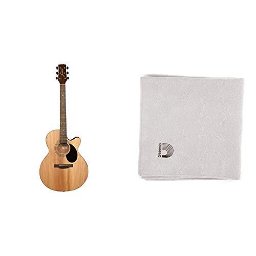 Jasmine S34C NEX Acoustic Guitar & D'Addario Micro-Fiber Polish Cloth
