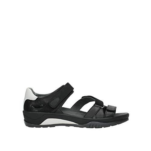 Wolky Damen Sandale, Schwarz, 39 EU