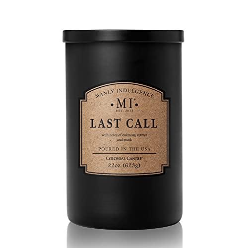 Manly Indulgence Eucalyptus Scented Jar Candle, Large, Black