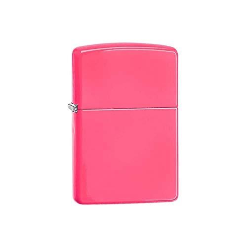 Briquet zippo rose neon avec coffret nr 60000475