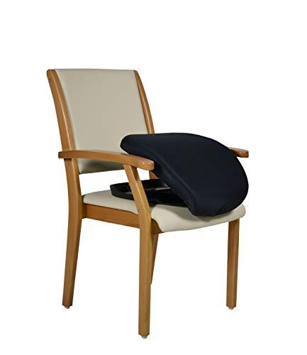 DEVITA - Seniorenstuhl Pflegestuhl mit Aufstehhilfe Kerry - individuell einstellbar mit Gasfeder (Buche hell, 601 Kunstleder Bisquit)