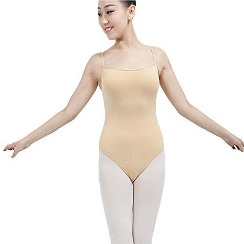 ZHJC Mono de Ballet para Mujer De Las Mujeres Ballet Gimnasia Danza del Mono del Color Sólido De Las Correas De Espagueti De La Honda del Estiramiento del Mono para Practicar Ballet
