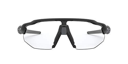 Oakley Men's OO9442 Radar EV Advancer Rectangular Sunglasses, Matte Black/Clear-Black Photochromic, 38 mm