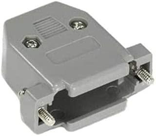 2X D-SUB VGA 15 Pin DB15HD MALE 3 ROWS SOLDER TYPE CONNECTOR /& GREY HOOD//SHELL