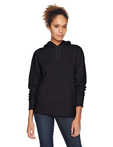 Amazon Essentials Women's Fleece Pullover Hoodie, black, Medium