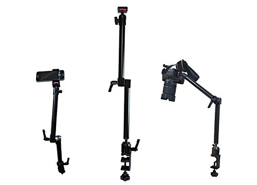 Arkscan MCM5 Tabletop Photography, Videography, Camera and Smartphone iPhone Table Clamp Mount with -20 Camera Mounting Bolt for Nikon Sony Canon Olympus Panasonic Cameras