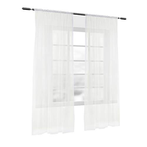 cortinas salon 2 piezas rieles