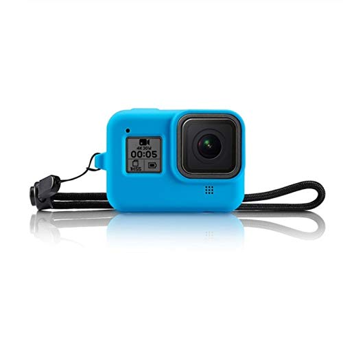 MeterMall Camero Beschermhoes voor GoPro HERO 8 Action Camera Zachte Siliconen Full Body Protection Opberghoes Blauw