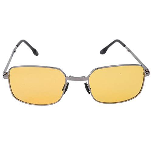 DAUERHAFT Gafas de protección Gafas de Sol Plegables Gafas de Sol polarizadas, para Proteger la Piel del Cuerpo Humano(Gun Frame Night Vision Color Changing Tea)