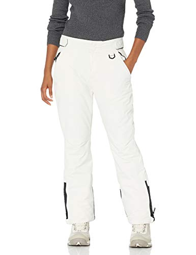 Amazon Essentials Women's Water Resistant Full Length Insulated Snow Pants, White, Medium