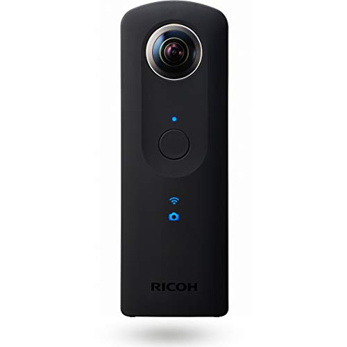 Ricoh THETA S Fotocamera Digitale 360°, 12 MP, Video Full HD 30 fps, Memoria Interna 8 GB, Nero