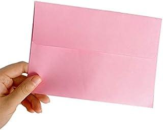 10pcs/lot Cute Candy Colors Kraft Paper Envelopes Decorative Envelope Small Paper Envelope (Color : Pink)