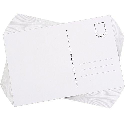 Blank Postkarten mit Mailing Seite, 6 x 4 Zoll, 60 Stück