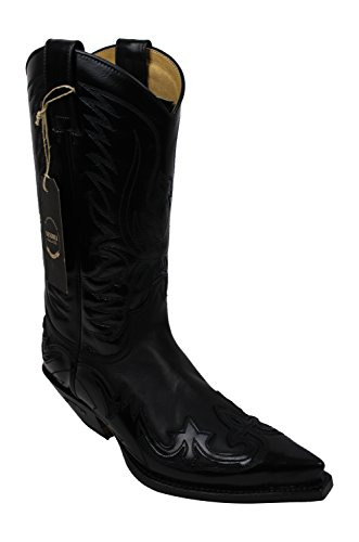 Sendra Cowboystiefel 3241 in schwarz incl. Roy Dunn´s Lederfett (43)