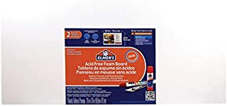 Elmer's Acid-Free Foam Boards, 20 x 30 Inches, 3/16-Inch Thick, Bright White, 2-Count (902015)