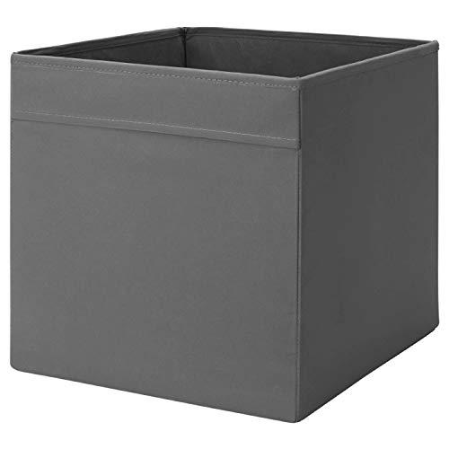 DRÖNA IKEA Box Fach Kiste für Kallax Regale, 33cm x 38cm x 33cm Polyester, 33 x 33 x 38 (Dunkelgrau)