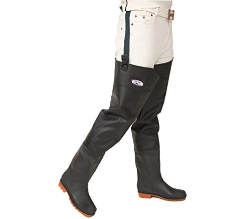 YAANCUN Wader Cuissardes Botas Río Pesca Gruesa Impermeable de PVC y Muslos Antideslizante Cuissardes