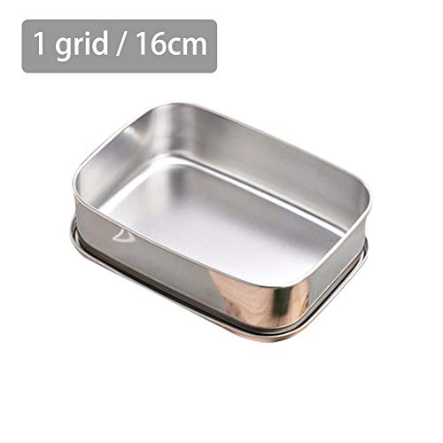 Hot Stainless Steel Lunch Box Separation Bread Metal Lunch Box Without Handle...
