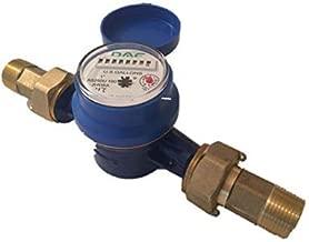 "DAE AS250U-100 1"" Water Meter, Measuring in Gallon + Couplings"