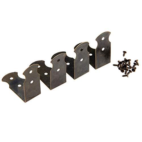 Soporte De Esquina Maleta 4pcs de bronce antigua caja de la esquina soportes de muebles y decoración de patas de la caja de madera de piernas protector de la esquina Soporte ( Color : 41x41x18mm )