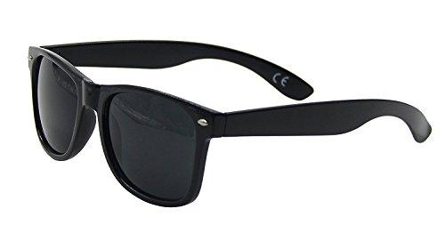 Raintopia Men's Delux Classic Wayfarer Sunglasses Dark Tint Lens Qwin Eyeware Uv400 Standard Adult Size Black