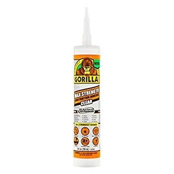 Gorilla 8212302 Max Strength Clear Construction Adhesive 1-Pack