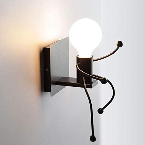 E27 creatieve led-wandlamp, klein, geïnstalleerd in de wandlamp 's nachts, wandkapstok zonder lamp