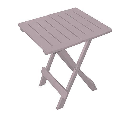 Sunny Days Adige - Mesa auxiliar plegable (44 x 44 x 50 cm), color gris