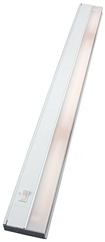 "GE Direct-Wire 36"" Fluorescent Fixture Instant-On, Flicker-Free, No-Hum, Under Cabinet Lighting for Kitchen, Home Office, Workshop, Built-in Rocker Switch, Steel Housing, White, 10142, 36 Inch"