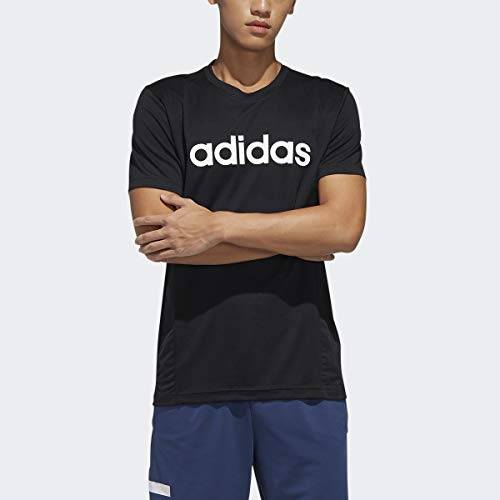 adidas Camiseta para Hombre con Logotipo 2 Move, Hombre, Camiseta, GVD28, Negro/Blanco, XL