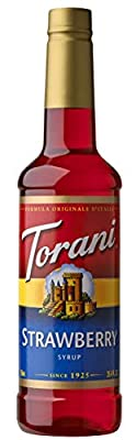 Torani Syrup, Strawberry, 25.4 Ounce (Pack of 1) by Torani