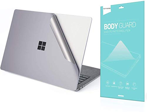 VFENG Premium 4-in-1 Full Body Skin Sticker Decal Decorative Protector for Microsoft Surface Laptop 3 15 Inch Only - Gray