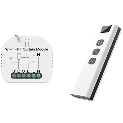 SNOWINSPRING WiFi RF Cortina Inteligente Cortinas MóDulo Interruptor Roller Shutter Motor Tuya Control Remoto InaláMbrico Trabajar Cen Alexa Home