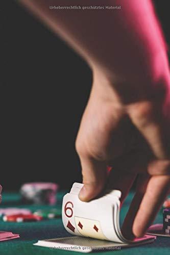 Notizbuch: zum Pokern ♦ über 100 Seiten Dot Grid Punkteraster für Strategien, Planer oder Notizen für alle Pokerspieler ♦ Jounal 6x9 Format ♦ Motiv: Pokertisch 10