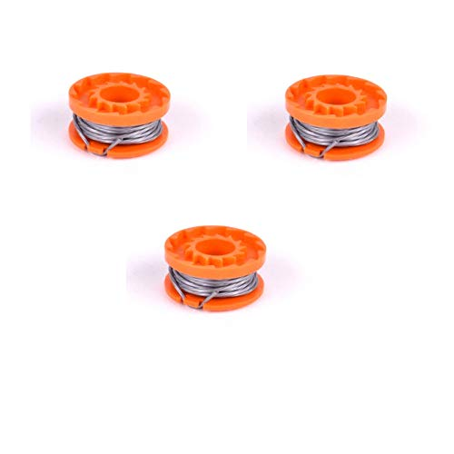 Alm 3 X Qualcast Spool & Line To Fit 18V Cordless Grass Trimmer Models & WORX WG150E & WG151E (18v Li-ion) Big Bear BB1152KIT 18V .4cm Diameter