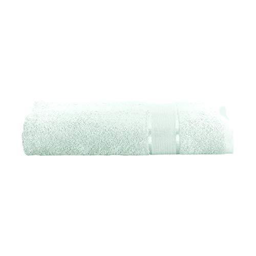 Mixibaby Toalla de mano, toalla de invitados, toalla de ducha, toalla de sauna, manopla de baño, juego de ahorro de algodón, 100% algodón, Menta clara., 2 Stück Duschtuch 70x140cm