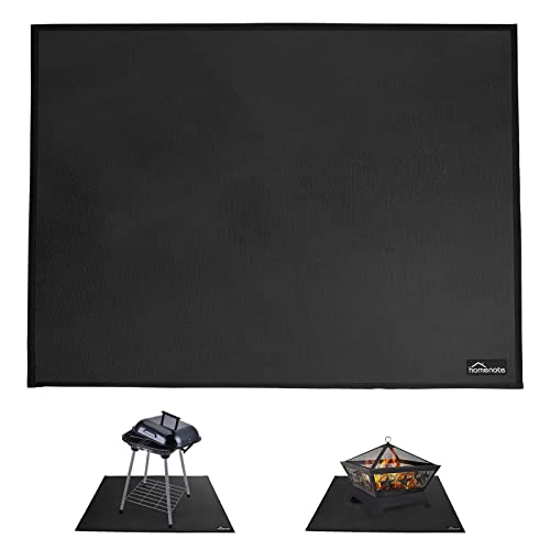 HOMENOTE Medium Under Grill Mat&Fire Pit Mat, 36'x 48' Deck Patio Protect Mat, Fireproof Grill Pad for Fire Pit, Griddle Cooking Center, Outdoor Flat Top Gas, Propane Burners&Portable Charcoal Grills