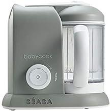 Béaba Babycook Solo Robot de cocina infantil 4 en 1, Tritura, cocina y cuece al vapor, Cocción al vapor rápida, Comida casera y deliciosa para bebés y niños, Comida variada para tu bebé, Gris