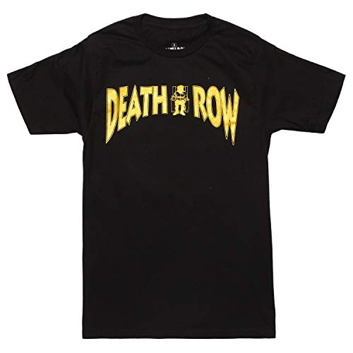 Ripple Junction Death Row Records Shimmer Logo Adult T-Shirt - Black (Large)