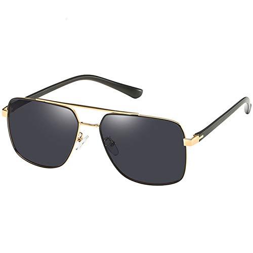 OGOBVCK Men's Sun Mirror New rectangle Design of Polarization Metal Sun Mirror (Gold)