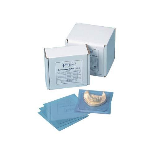 KEYSTONE - Splint Material - .020in (0.5mm) - 25pk - 5in x5in Sheets- (K# 9615000) (5X5in) [ - Stiff Clear Material - Acrylic Sticks to Material - for Hard splints- surg 103924 Us Dental Depot