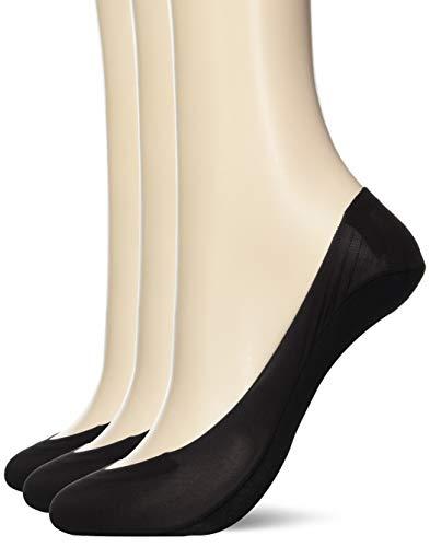 [オカモト] 脱げない ココピタ 3足組 フットカバー 浅履き フォーマルタイプ レディース ブラック 日本 23-25cm (日本サイズM相当)