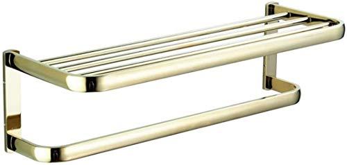 WaWeiY Toallero, Moderna Simplicidad de Rod circonio Oro toallero, L58cm montado en la Pared sostenedor de Cobre Amarillo Toalla, de Almacenamiento, Cocina paños de Cocina Percha, for Baño Aseo Hotel